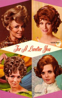 #1960s hair styles and #makeup.   #fashion #retro #vintage