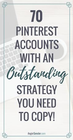 Free swipe file of 70 Pinterest accounts with an outstanding strategy you need to copy. These are sorted by 14 niches that are perfect for Pinterest! via @angiegensler