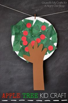 Tree Kids Craft Apple Tree Kids Craft - get your kids excited about Fall with this fun and easy apple picking craft!Apple Tree Kids Craft - get your kids excited about Fall with this fun and easy apple picking craft! Daycare Crafts, Sunday School Crafts, Toddler Crafts, Fall Crafts For Kids, Art For Kids, Kids Fun, Craft Kids, Spring Crafts, Craft Work