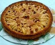 Pear pinenut tart
