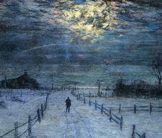 """""""A Wintry Walk"""" by Lowell Birge Harrison"""