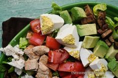I made this salad for lunch today. Craving some serious proteins my original plan was to put some tempeh bacon on a salad, throw on some nuts, and call it good.Moments later I was online look…