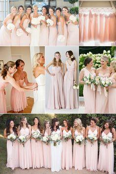top 10 colors for bridesmaid dresses 2015 - blush pink