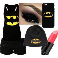 here is a random Batman outfit I did! Alternative Fashion, Alternative Style, Batman Outfits, Rock Chick, My Style, Babe, Clothes, Beauty, Polyvore