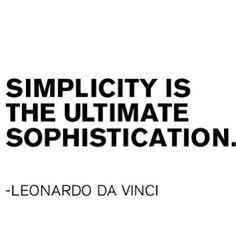 on simplicity, Leonardo da Vinci