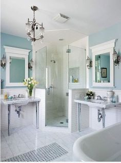 clawfoot tub and separate shower layout - Google Search