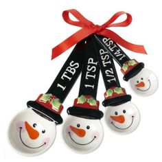 Ganz Snowmen Measuring Spoons - Ornaments Gifts Christmas EX10622-GANZ