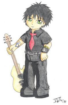 Billie Joe Armstrong is the lead vocalist, main songwriter and lead guitarist for the American punk rock band Green Day. Description from deviantart.com. I searched for this on bing.com/images