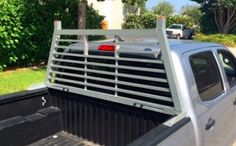 Protect your rear window from shifting cargo with this lightweight aluminum headache rack. Horizontal crossbars create a barrier while still allowing Truck Accesories, Car Accessories, Metal Projects, Welding Projects, Headache Rack Trucks, Kia Picanto, Rolling Bar, Toyota Trucks, Toyota Hilux