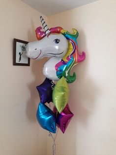 Unicorn balloons, globo de unicornio, helium balloons