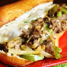 Easy Philly Cheesesteaks - 15 minutes to make my favorite sandwich. I Love Food, Good Food, Yummy Food, Tasty, Sliders, Beef Recipes, Cooking Recipes, Bratwurst Recipes, Cooking Tips
