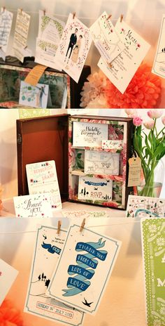 Wedding Stationary at the #EtsyWed event.