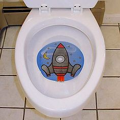 Tinkle Targets Potty Training Aid for Boys  Who knew potty training could be so much fun? These floating targets not only encourage little boys to stand and go in the toilet, but also help them develop their aim.