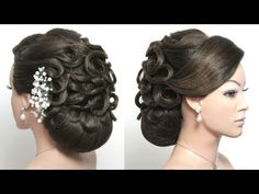 Bridal hairstyles for long hair tutorial. 2 wedding updos - YouTube