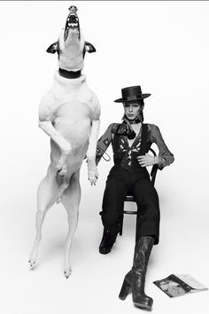"""Terry O'Neill's """"David Bowie/The Jumping Dog"""" photograph is widely recognised as one of the most iconic rock'n'roll images of all time. But this singular image was not planned. Terry O Neill, Raquel Welch, Jennifer Jones, Faye Dunaway, Robert Redford, Marlene Dietrich, Sean Connery, Abbey Road, Amy Winehouse"""
