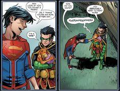 Adventures-of-the-Super-Sons/Issue-6 Damian Wayne, Marvel Vs, Marvel Dc Comics, Jon Kent, Drawing Superheroes, Batman Family, Comic Panels, Batman Robin, Dc Heroes
