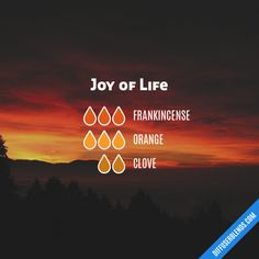 Joy of Life diffuser blend with doTERRA essential oils. Essential Oil Diffuser Blends, Doterra Essential Oils, Clove Essential Oil, Yl Oils, Young Living, Cedarwood Oil, Diffuser Recipes, Aromatherapy Oils, Aromatherapy Recipes