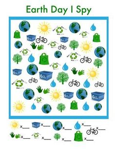 """Earth Day """"I Spy"""" Game (free; from The Pleasantest Thing)"""