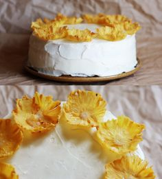 Pineapple Flowers  #Pineapple #Cake