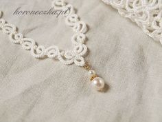 Tatting - Art Lace: tatted necklace