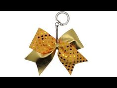 How To Make A Mini Cheer Bow Keychain Tutorial DIY - YouTube
