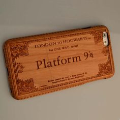 Harry Potter Platform9 3/4 fit iphone 7 6s Plus 6 6 plus Natural Wooden Wood Bamboo Phone Case For Samsung S7 S6 S5