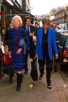 Frances Shand Kydd and Diana/ they spent a lot of time together at Frances's place in Scotland.