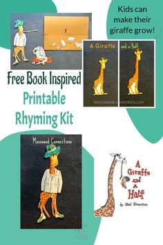 Free-Book-Inspired-Printable-Rhyming-Kit Learning Games For Kids, Educational Activities For Kids, Speech Activities, Book Reviews For Kids, Critical Thinking Skills, Social Skills, Free Books, Lesson Plans, Childrens Books