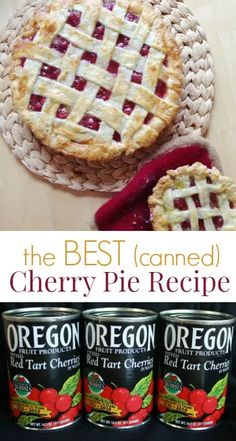 Best Cherry Pie Recipe, Cherry Recipes, Cherry Pie Recipe With Canned Cherries, Cherry Desserts, Betty Crocker Cherry Pie Recipe, Oregon Cherry Pie Recipe, Canned Cherry Pie Filling, Torte Rose, Pie Dessert