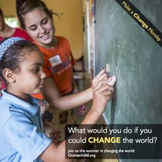 At Outreach360, we're fighting poverty through meaningful and sustainable educational programs for children in need. What would you do if you could change the world?