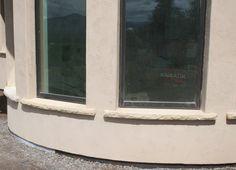 Radiused limestone sills