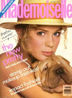 July 1988 cover with eighteen-year-old Rachel Hunter photographed by the late Richard Avedon