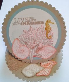 Scalloped Oval Easel Card made with the By the Tide Stamp Set from Stampin' Up!