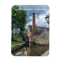 Cotswolds Lower Slaughter watermill fridge magnet - home decor design art diy cyo custom