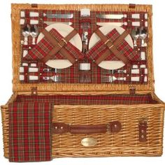 This Sutherland Baskets Majestic Picnic Basket in Red Plaid is for my little sister; reminiscent of our childhood picnics. Picnic Basket Set, Picnic Set, Picnic In The Park, Summer Picnic, Picnic Ideas, Adult Lunch Box, Best Tents For Camping, Joss And Main, Cotton Quilts