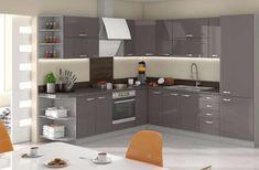 Kuchyňská linka GREY v barevném provedení šedá lesk. Prado, Home And Living, Angles, Kitchen Cabinets, House Design, Grey, Home Decor, Images, Bedroom
