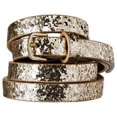 Glitter Chunky Glitter Belt $12.99 Mhmm. I love a little bit of shiny!
