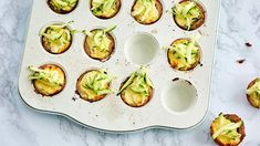 Kesäkurpitsa-fetamuffinit   Leivonnaiset   Yhteishyvä Avocado Egg, Zucchini, Pie, Eggs, Baking, Vegetables, Breakfast, Recipes, Food