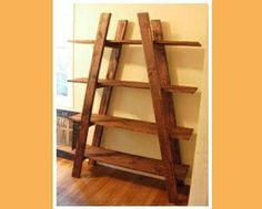 wood project.  Looks like a ladder, looks like a shelf. love it!