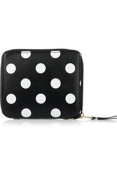 polka dot leather wallet ++ comme des garcons