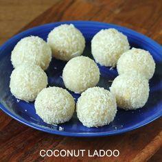 Coconut ladoo recipe or nariyal ladoo , a popular Indian festive delight made with milk, sugar and coconut. Learn to make easy coconut ladoo recipe Coconut Ladoo Recipe, Burfi Recipe, Chaat Recipe, Coconut Recipes, Kulcha Recipe, Coconut Burfi, Easy Indian Dessert Recipes, Indian Desserts, Sweets Recipes