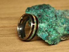 Black opal Titanium opal ring opal engagement ring opal | Etsy Fire Opal Engagement Ring, Opal Wedding Rings, Opal Rings, Wood Inlay Rings, Wood Rings, Ring Ring, Handmade Engagement Rings, Black Opal, Opal Jewelry