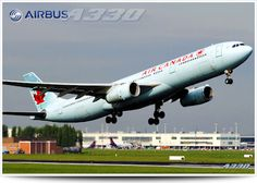 Airbus A330-300, the largest Airbus in Air Canada's fleet. Similar to the Boeing 767-300