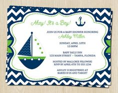 30 invites for $24!!!!! (Lauren added this comment lol)Nautical Chevron Baby Shower Invitations for by TheInviteLadyShop