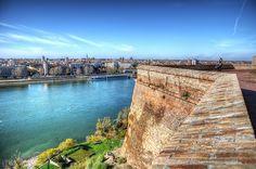 Novi Sad and Danube view from Petrovaradin Fortress