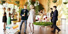 こもれびガーデンでデザートブッフェをゲストと楽しむ | 大阪で自然に包まれた森ウエディングができる結婚式場 鶴見ノ森 迎賓館