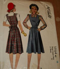 McCall 3964: Misses' jumper dress and blouse