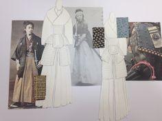 Board 1 #Japan #Samurai #Fashion #FashionIllustration #Design #Project