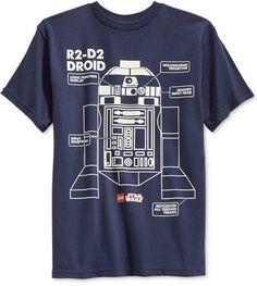 Star Wars Little Boys' LEGO R2-D2 Droid T-Shirt  $5.99 @ Macy's