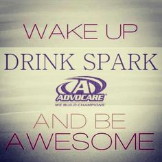 Love Spark Energy mind focus appetite suppressant vitamin drink  WWW.Advocare.com/10118997 put your order in !!!